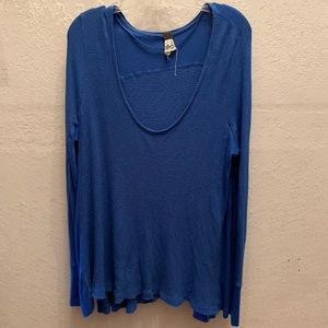 Blue Free People long sleeve shirt
